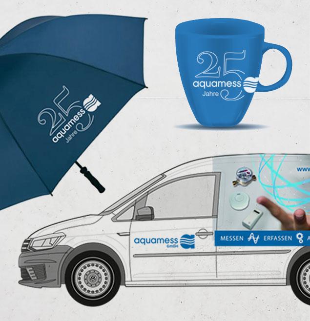 Aquamess Teaser Corporate Design Analog Marketing