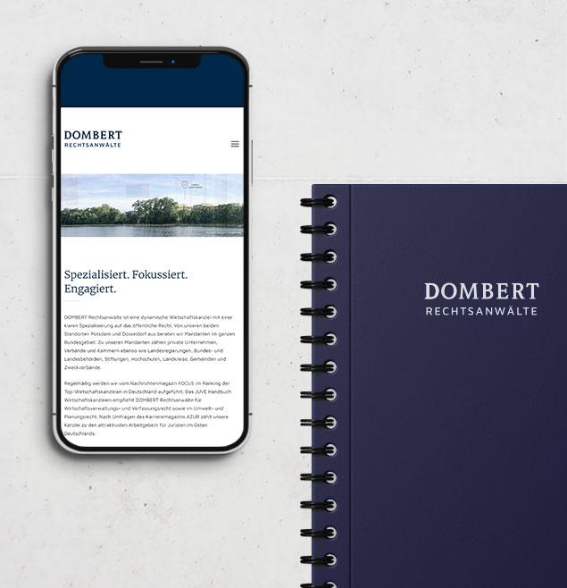 Dombert Teaser Schweiger Design Unternehmensmarke Design CMS WordPress Webseite