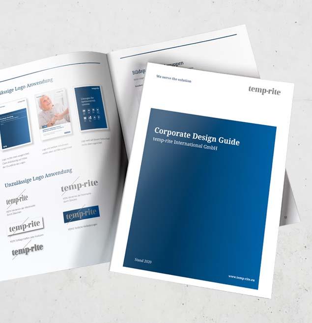 Temprite Teaser SchweigerDesign CorporateDesign Designguide Anwenderhandbuch Manual Guide
