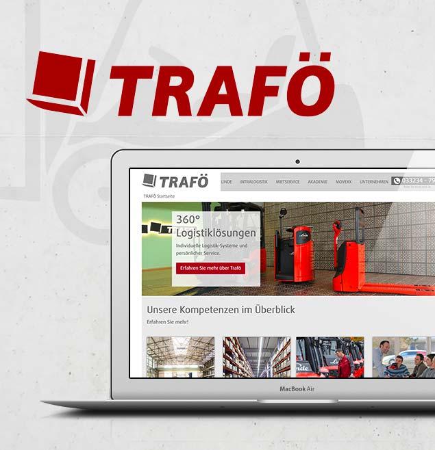 TRAFOE Teaser Webseite Programmierung Geschaeftsausstattung Print Messe