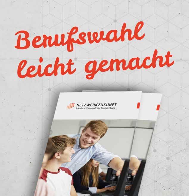 Netzwerk Zukunft Teaser Print Flyer Marketingunterlagen Betreuung Bildsprache