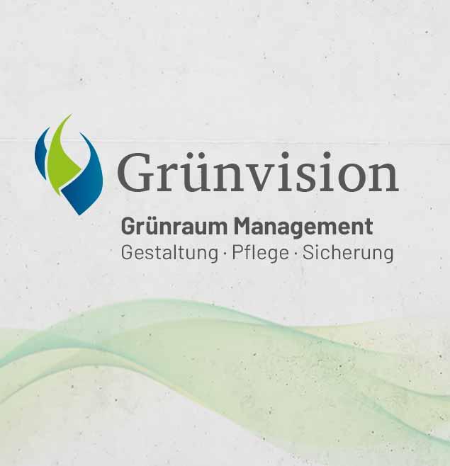 Gruenvision Teaser Webdesign Programmierung Betreuung Print Corporate Logodesign