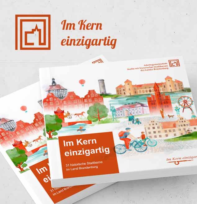 AG Historische Stadtkerne Teaser SchweigerDesign Editorial Design Broschuere Grafik