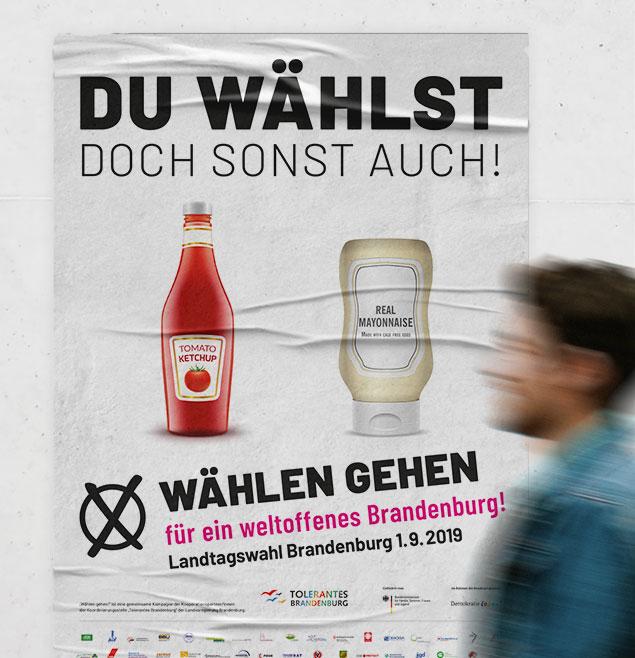 Erstwaehlerkampagne Teaser Brandenburg Waehlen Gehen Plakate Grafikdesign Kampagne