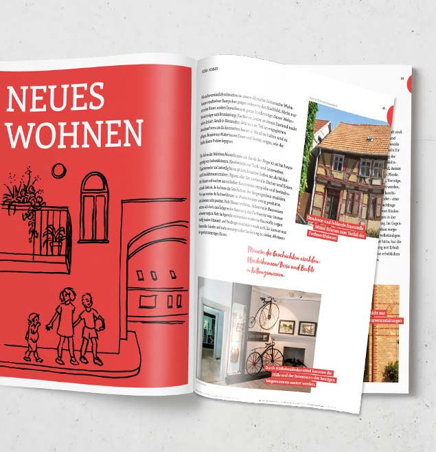 Altstadtlust Teaser Print Broschuere EditorialDesign
