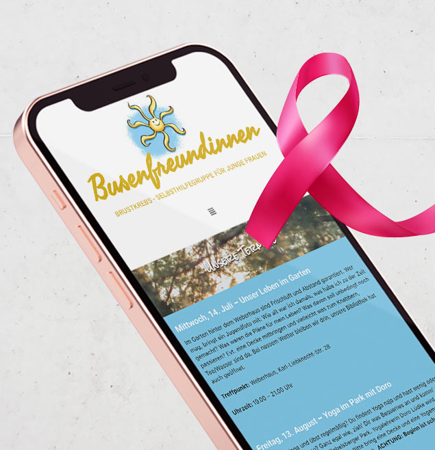 Busenfreundinnen Teaser Soziales Projekt Bristkrebs Selbsthilfegruppe Potsdam