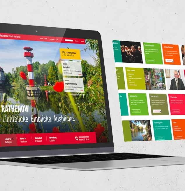 Rathenow Teaser SchweigerDesign CorporateDesign CMS Typo3 Webseite Responsive