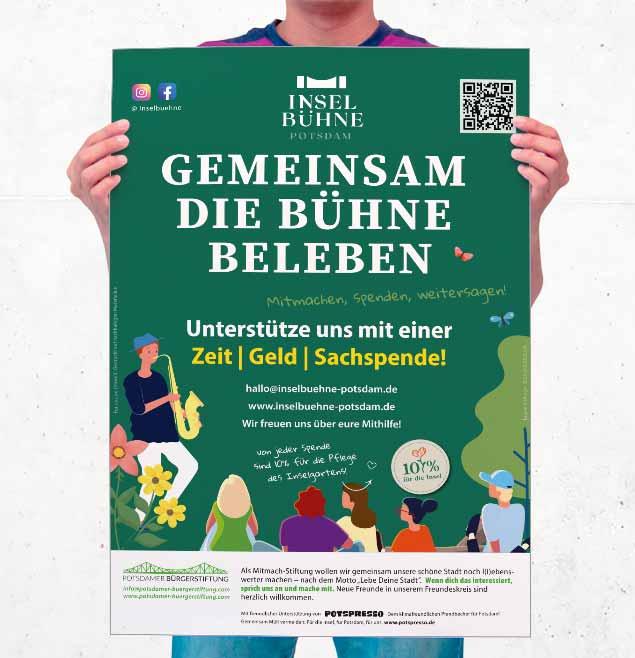 Inselbuehne Potsdam Teaser Schweiger Design Plakate Print Grafikdesign Marketing Webseite