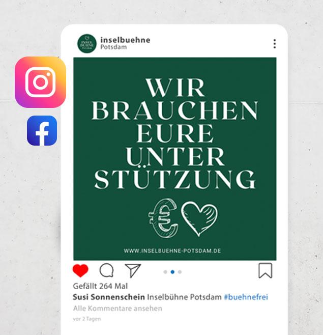 Inselbuehne Potsdam Teaser Schweiger Design SocialMedia Marketing Webseite